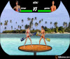 เกมส์ต่อสู้ สาวๆตีกันให้ตกน้ำ