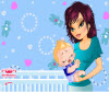 เกมส์แต่งตัว เด็กทารกบนอกของคุณแม่
