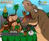เกมส์ต่อสู้ แหกออกจากปากไดโนเสาร์ให้ได้