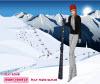 เกมส์แต่งตัว สาวสวยเล่นสกีหิมะแสนสนุก