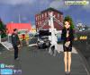 เกมส์แต่งตัว นักข่าวที่กำลังทำข่าวรถชนเสาไฟฟ้าล้ม