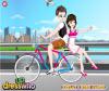 เกมส์แต่งตัว หนุ่มสาวขี่จักรยานเล่นตามที่ต่างๆ