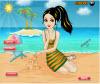 เกมส์แต่งตัว สาวสวยนั่งก่อกองทรายริมหาดแสนสวย