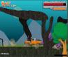 เกมส์ต่อสู้ ขับรถเข้าไปในป่าไดโนเสาร์ที่ดุร้ายและยิงเลย