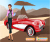 เกมส์แต่งตัว สาวสวยไปขับรถเที่ยวด้วยรถโบราณแสนสวย