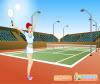 เกมส์แต่งตัว สาวสวยนักกีฬาเท็นนิสสาวกำลังเสริฟ
