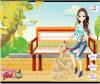 เกมส์แต่งตัว สาวสวยกับหมาน่ารักในสวนสาธารณะ