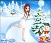 เกมส์แต่งตัว สาวสวยที่กำลังเล่นใส่รองเท้าสกีเล่นอยู่