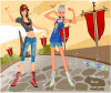 เกมส์แต่งตัว สาวสวยสองสาวสวยใส่เสื้อผ้าออกกำลังกายแนวใหม่